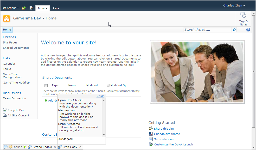 Web Based Chat For Sharepoint Chatpoint