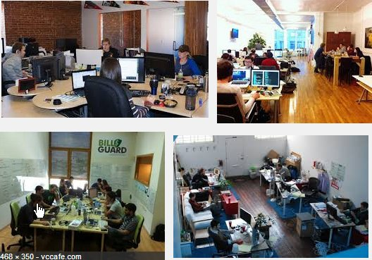 Google image search results for tech startup office.